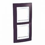 Двойна рамка за вертикален монтаж Unica Plus, Гранит/Бял