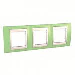 Тройна рамка Unica Plus, Ябълково зелен/Слонова кост