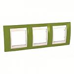 Тройна рамка Unica Plus, Ярко зелен/Слонова кост