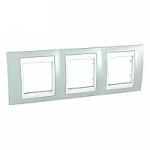Тройна рамка Unica Plus, Морско зелен/Бял