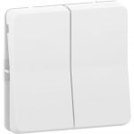 Mureva Styl - double two-way switch - flush & surface mounting - white