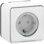 Mureva Styl - power socket-outlet with sideE - 16A 250V - 2P + E with shutters - white