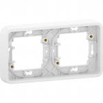 Mureva Styl - cover frame for socket outlet - 2 gangs - horizontal - white