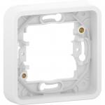 Mureva Styl - cover frame for socket outlet - 1 gang - white