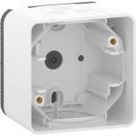 Mureva Styl - surface mounted box - 1 gang - white
