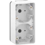 Mureva Styl - surface mounted box - 2 gangs vertical- white
