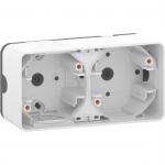 Mureva Styl - surface mounted box - 2 gangs horizontal- white
