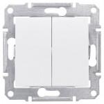 Сериен ключ 10 A – 250 V AC, Бял