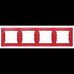 Четворна хоризонтална рамка, Червено