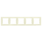 Петорна хоризонтална рамка, Крема