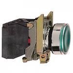 Пусков светещ бутон (1 N/O + 1 N/C) предпазен LED, без маркировка, зелен