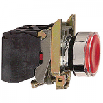 Пусков светещ бутон (1 N/O + 1 N/C) предпазен LED, без маркировка, червен