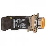 Пусков светещ бутон (1 N/O + 1 N/C) с нажежена жичка, без маркировка, оранжев