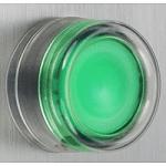 Бутон с прозрачен силикон и гумено уплътнение (1 N/O) без маркировка, зелен
