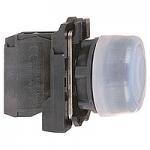 Бутон с прозрачен силикон и гумено уплътнение (1 N/O) без маркировка, син