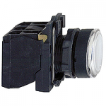 Пусков светещ бутон (1 N/O +1  N/C) вградена LED 24 V AC/DC, бял