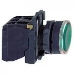 Пусков светещ бутон (1 N/O +1  N/C) вградена LED 110-120 V AC, зелен