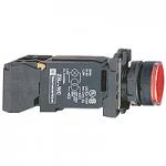 Пусков светещ бутон (1 N/O +1  N/C) BA 9s 220-240 V AC, червен