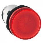 Сигнална лампа със захранване на крушка BA 9s през резистор 230 V AC, червен