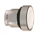 Бял бутон наравно с повърхността с вързвръщаема пружина, без маркировка