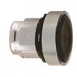 Черен бутон наравно с повърхността с вързвръщаема пружина, без маркировка