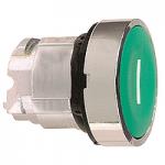 """Зелен бутон наравно с повърхността с вързвръщаема пружина, бяла линия """"I"""""""