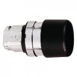 """Черен бутон тип """"гъба""""с възвръщаема пружина, без маркировка"""
