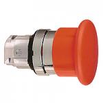 """Червен бутон тип """"гъба""""с възвръщаема пружина, без маркировка"""