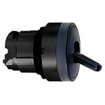 Черен метален превключвател, задържаща позиция, 2 позиции 90°