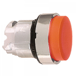 Червена глава за изпъкнал бутон, натискане и освобождавне чрез натискане, без маркировка