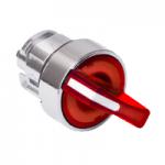 Червен светещ ключ с 2 позиции 90°