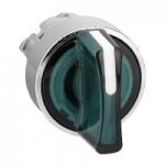 Зелен светещ ключ с 3 позиции +/- 45°