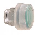 Зелена глава за изпъкнал бутон с прозрачна обвивка, несъвместим с държач за табели