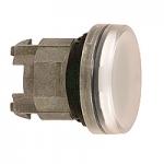 Бяла контролна лампа с обикновени обективи, вграден LED