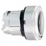 Бяла глава за бутон наравно с повърхността, вграден LED с обикновенна леща, без маркировка