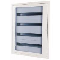 Разпределително табло за вграден монтаж xBoard BF 5 x 24, с полупрозрачна врата, Бяло