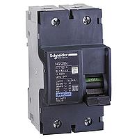 Миниатюрен автоматичен прекъсвач NG125N, 2P, 20A, C, 25kA