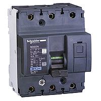 Миниатюрен автоматичен прекъсвач NG125N, 3P, 80A, D, 25kA