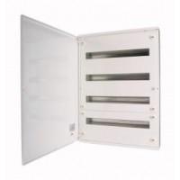 Разпределително табло за открит монтаж xBoard BF 4 x 24, с непрозрачна бяла врата, Бяло