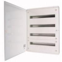 Разпределително табло за открит монтаж xBoard BF 6 x 24, с непрозрачна бяла врата, Бяло