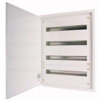Разпределително табло за вграден монтаж xBoard BF 5 x 24, с непрозрачна бяла врата, Бяло