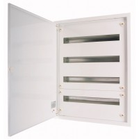 Разпределително табло за вграден монтаж xBoard BF 6 x 24, с непрозрачна бяла врата, Бяло