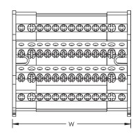 Разпределителен блок 4P, 40 A, 2 входа/11 изхода