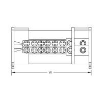 Разпределителен блок 2P, 100/125A, 1 вход/6 изхода