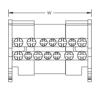 Разпределителен блок 2P, 80/100A, 1 вход/6 изхода