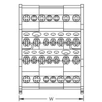 Разпределителен блок 4P, 80/100A, 1 вход/6 изхода