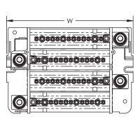 Разпределителен блок 4P, TDL 250/400A, 1 вход/14 изхода