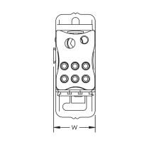 Разпределителен блок 1P, UDJ, 125 A, 1 вход/7 изхода