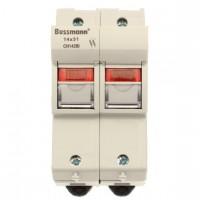 Държач за стопяем предпазител LV, 50 A, AC 690 V, 14 x 51 mm, 2P, IEC, индикиращ