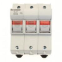 Държач за стопяем предпазител LV, 50 A, AC 690 V, 14 x 51 mm, 3P, IEC, индикиращ